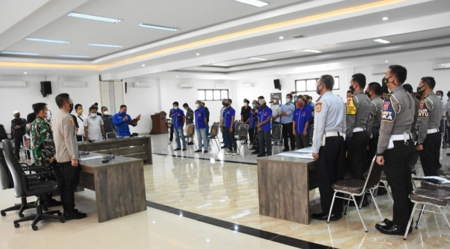 Kapolres Bogor Gelar Sosialisasi Larangan Mudik Terhadap Pengurus P.O. Bus Se Kabupaten Bogor