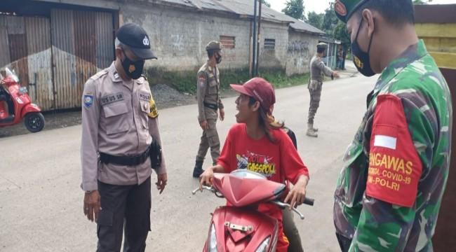 Kapolsek Rancabungur Iptu Tatang Hidayat.SH Pimpin Ops PPKM Stationer
